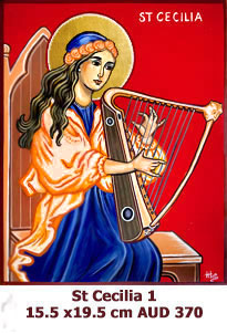 St Cecilia, Patron Saint of Music