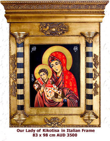 Our-Lady-of-Kikotisa-in-Italian-Frame-icon