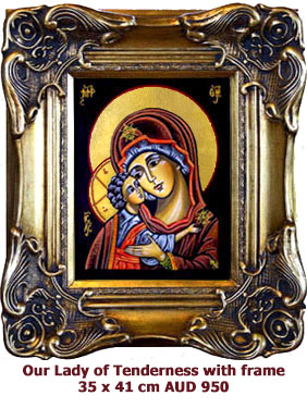 Our Lady of Tenderness, Godmother Eleusa, Mother of God with Divine Child