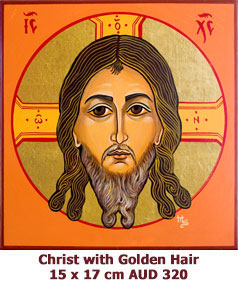 Christ with Golden Hair, Veronica, Not with Hand made Icon