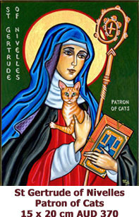 St-Gertrude-of-Nivelles-Patron of Cats-icon